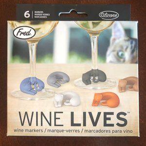 Wine Lives - Cat Wine Markers!  Fun!